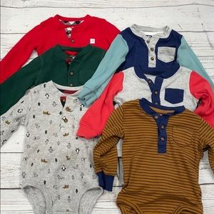 Carter's 9 Month Long Sleeve Clothing Lot Bodysuit
